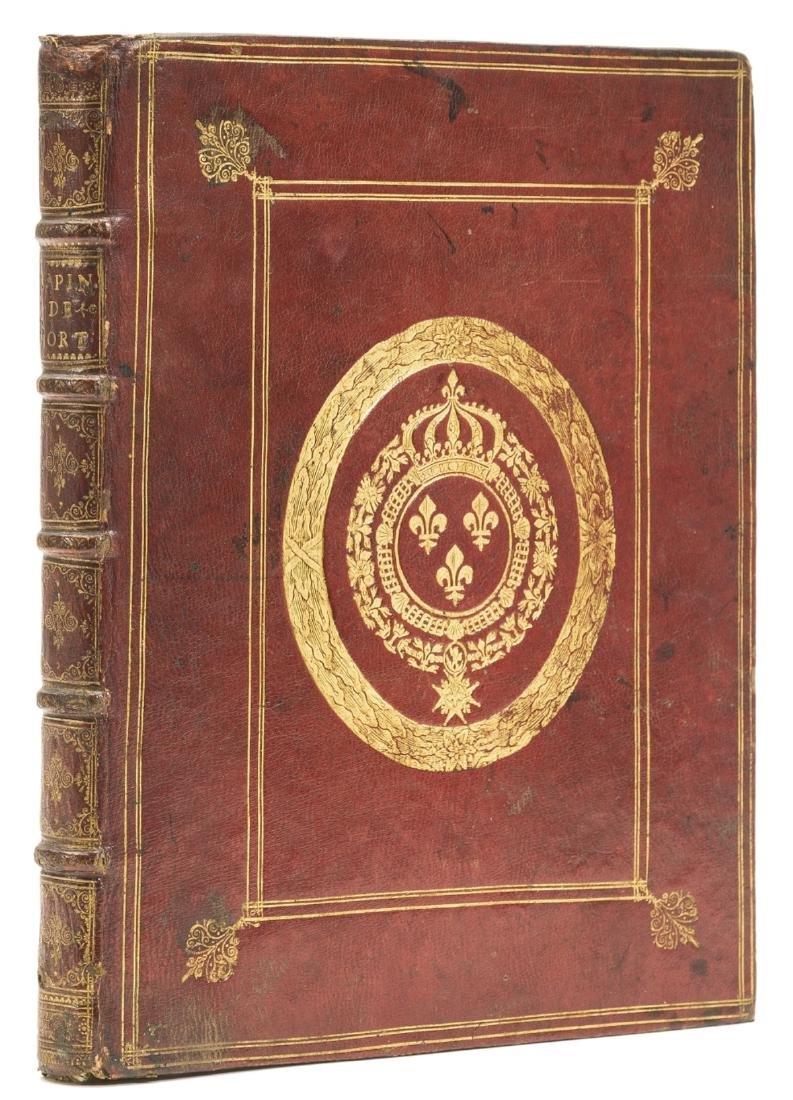 Royal arms.- Rapin (Rene) Hortorum libri IV cum