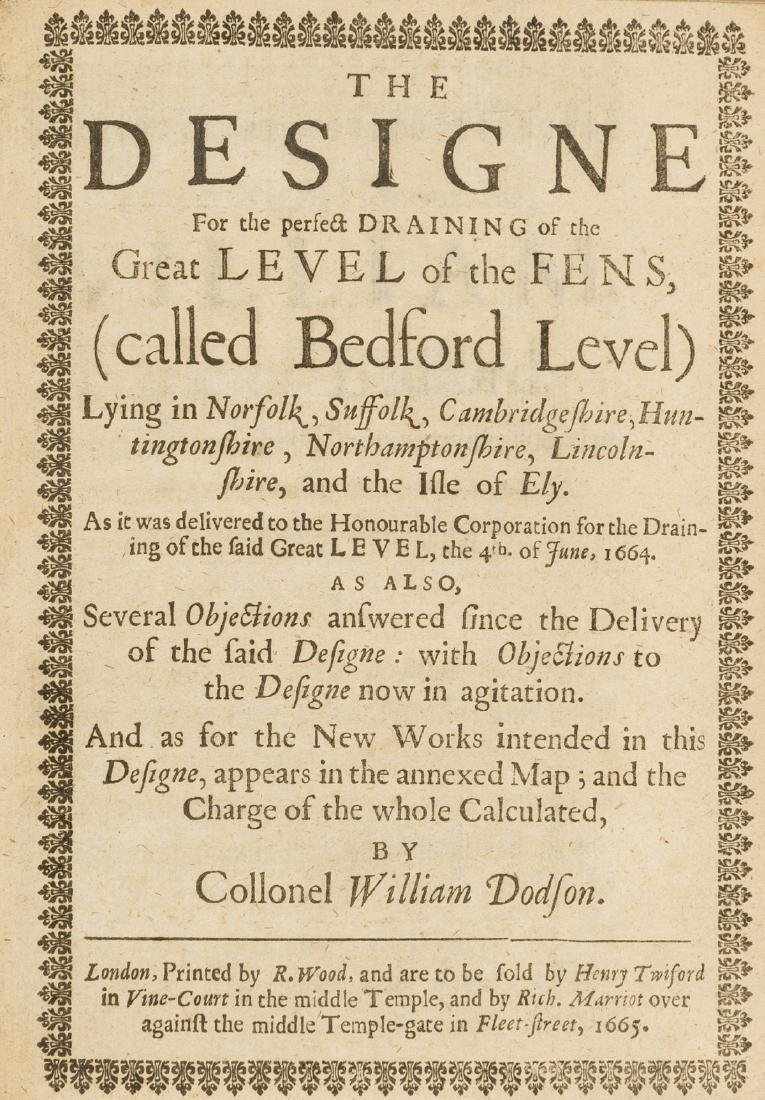 Fens Drainage.- Dodson (Col. William) The Designe for