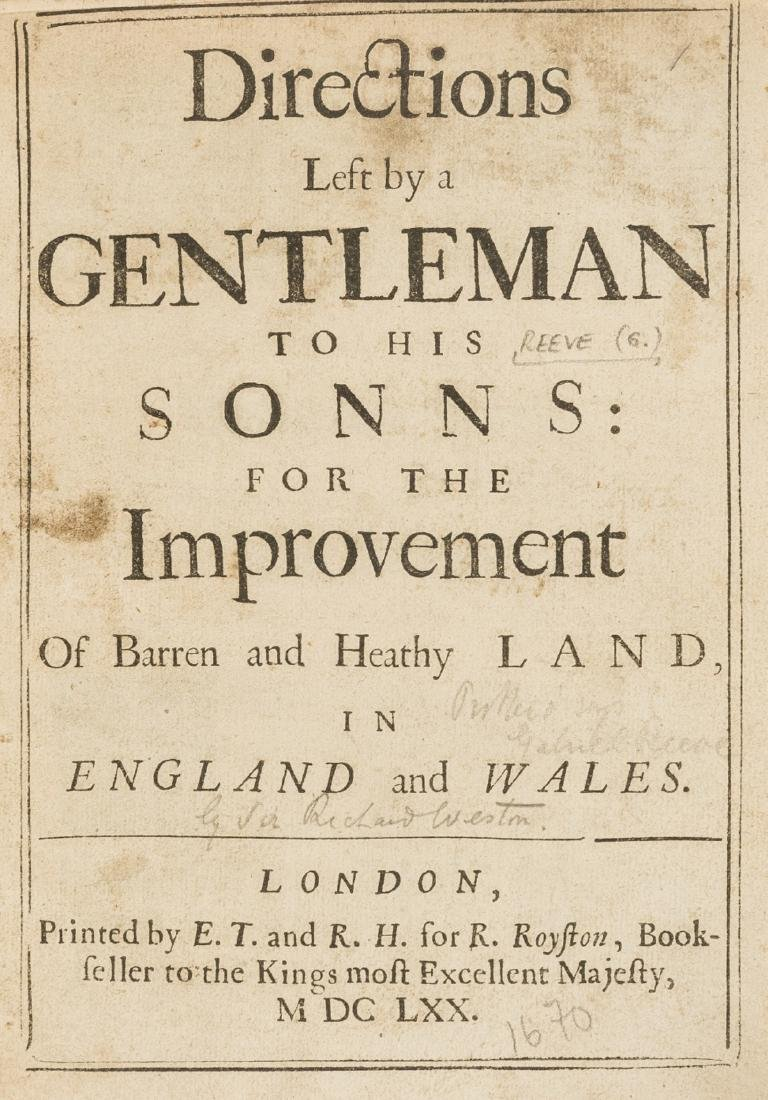 [Weston (Sir  Richard]) Directions left by a gentleman