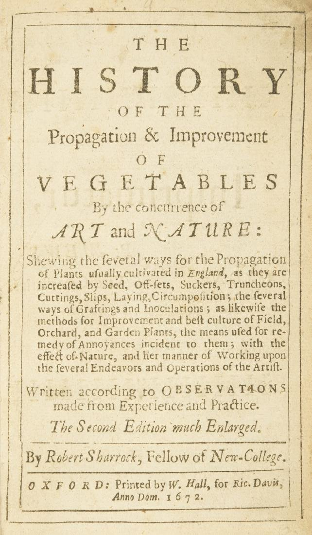 Vegetables.- Sharrock (Robert) The History of the