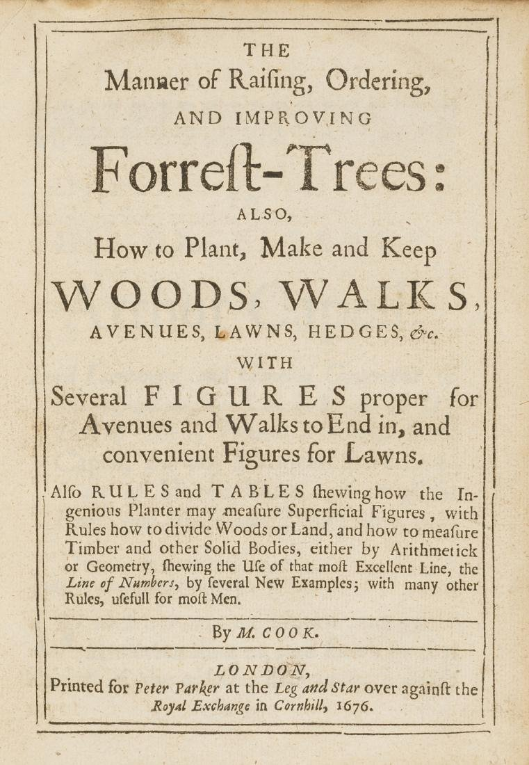 Forestry.- Cook (Moses) The Manner of Raising,