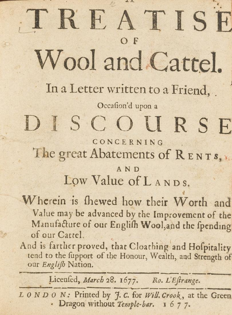Sheep.- Clarke (George) A Treatise of Wool and Cattel,