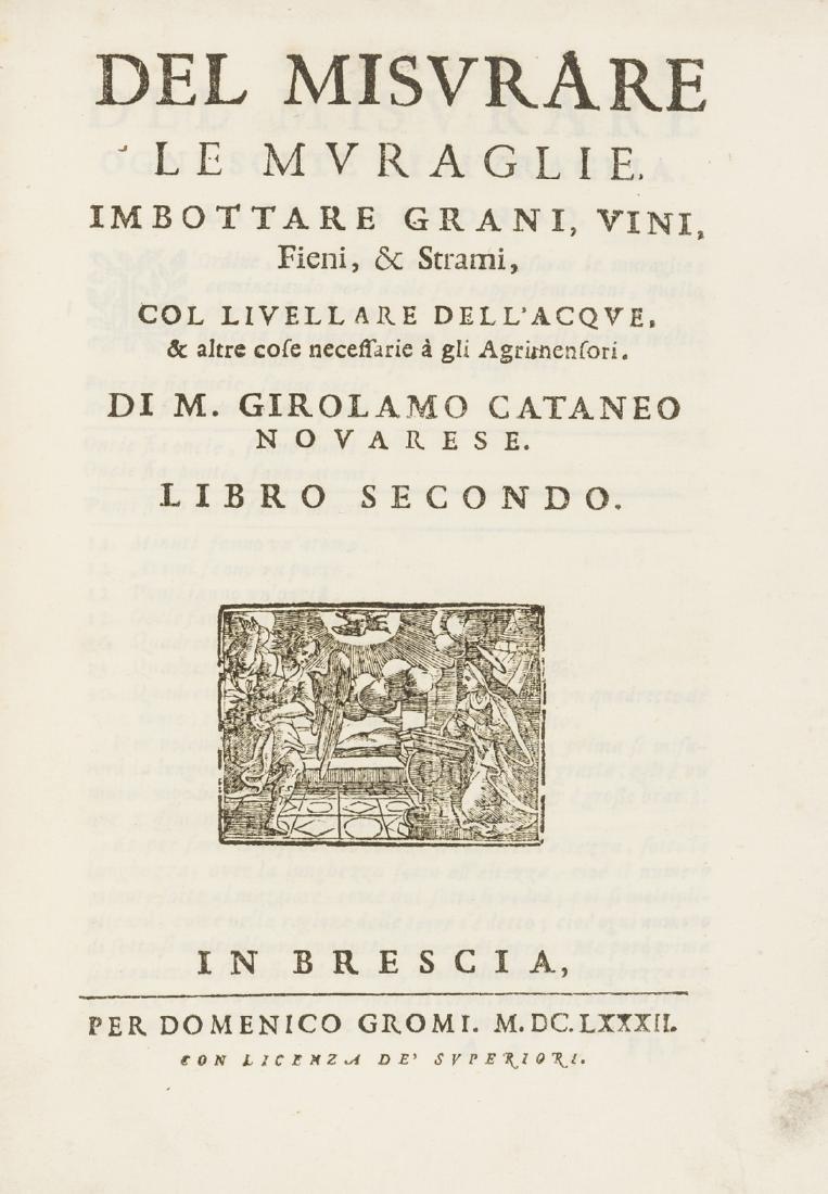 Surveying.- Cataneo (Girolamo) Dell'Arte del Misurare,