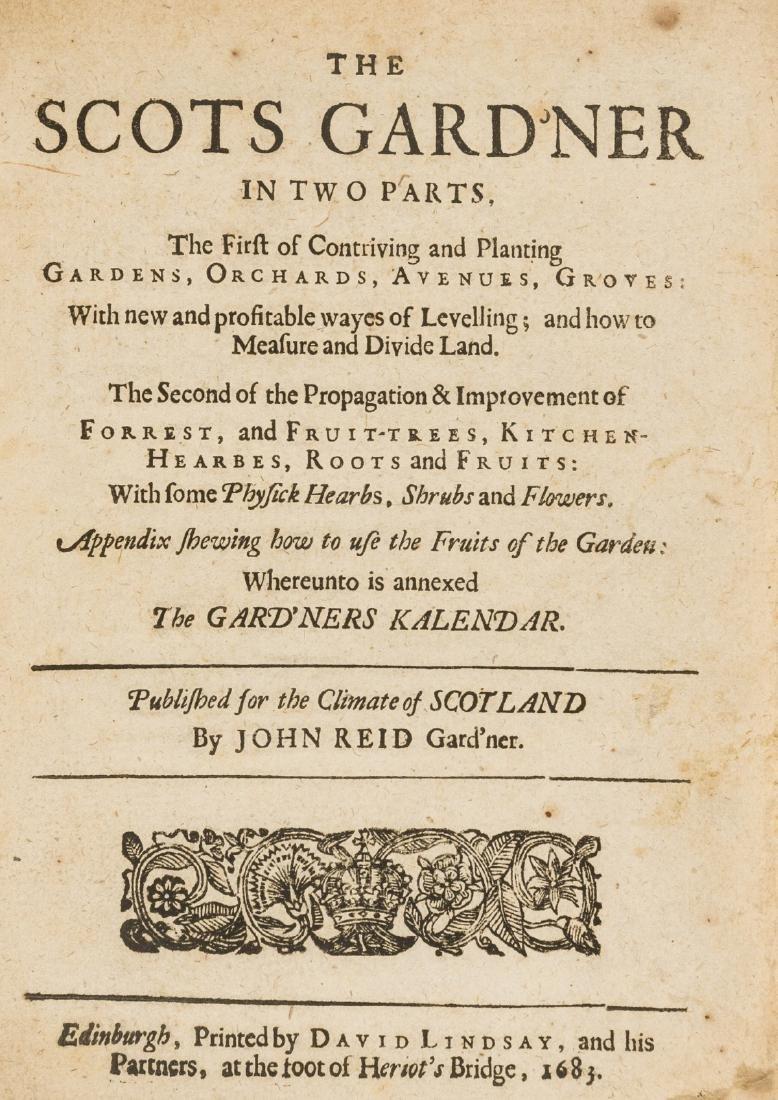 Gardens.- Reid (John) The Scots Gard'ner in Two