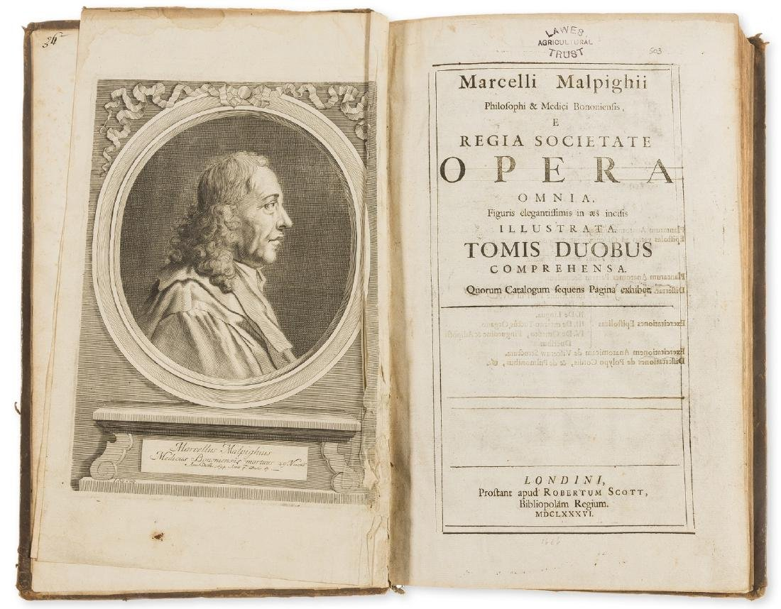 Malpighi (Marcello) Opera omina, 2 vol. in 1, Prostant