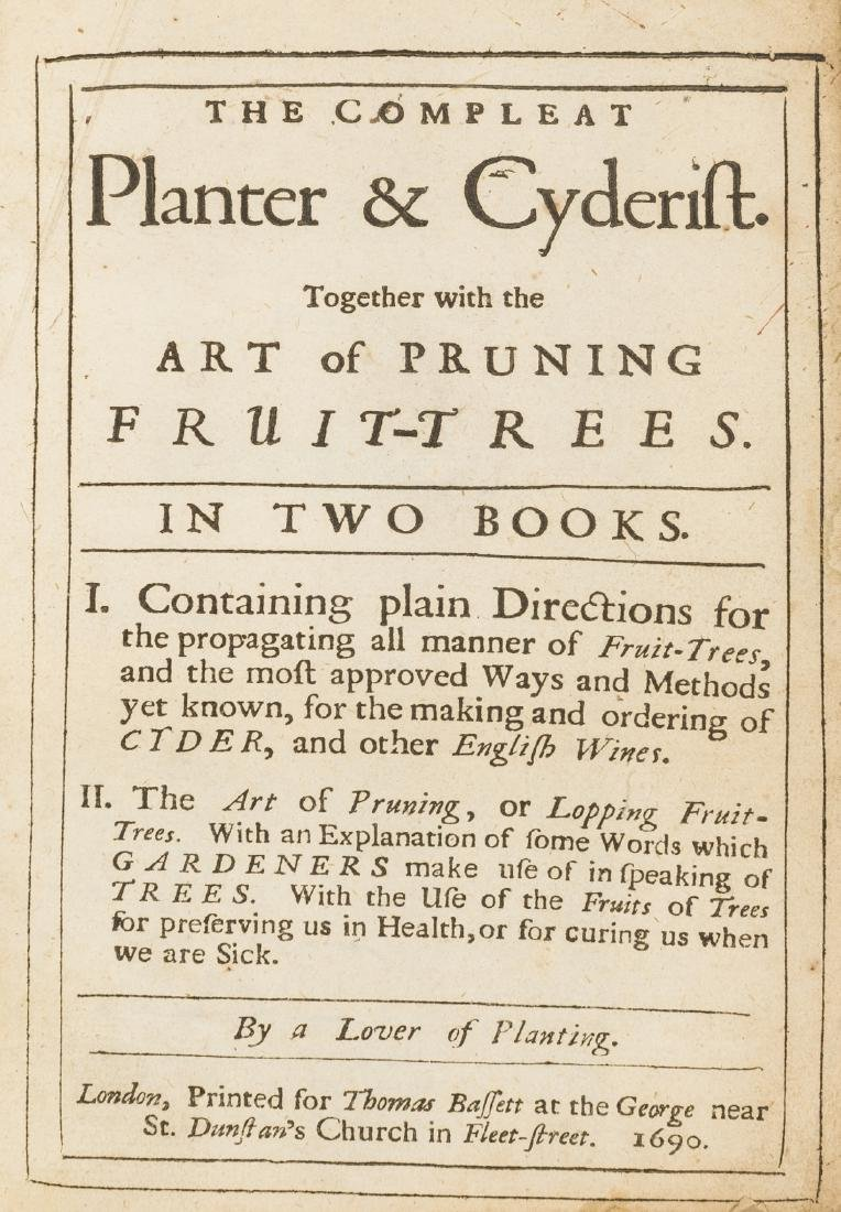 Cider.- The Compleat Planter & Cyderist. Together with