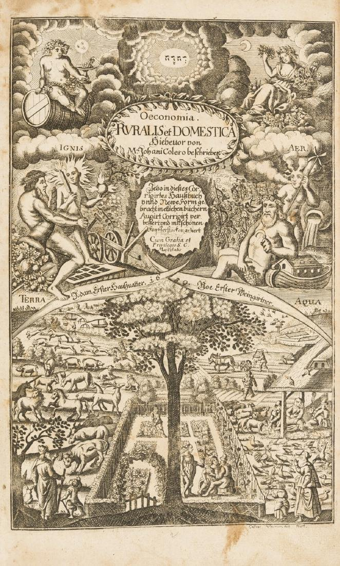 Coler (Johann) Oeconomia Ruralis et Domestica,