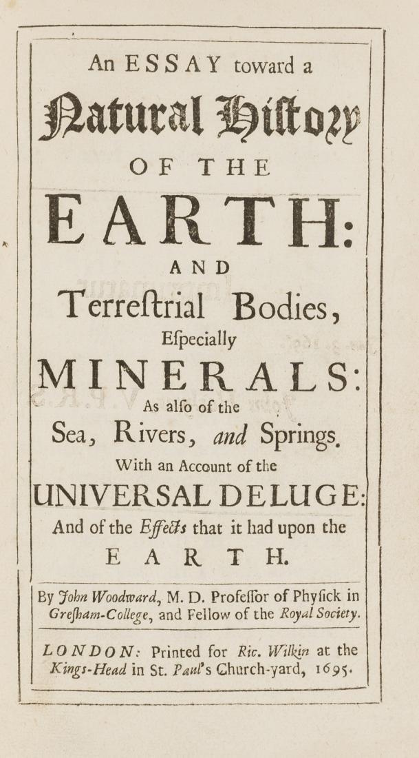Fossils.- Woodward (John) An Essay Toward a Natural
