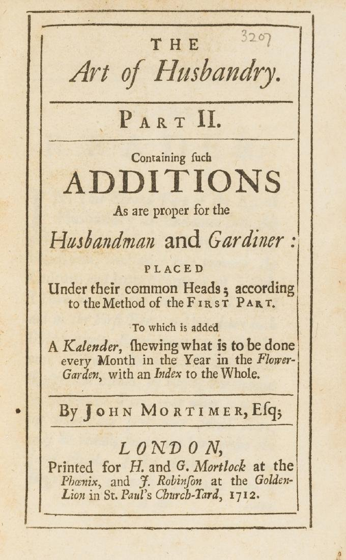 Mortimer (John) The Whole Art of Husbandry, Or, The Way