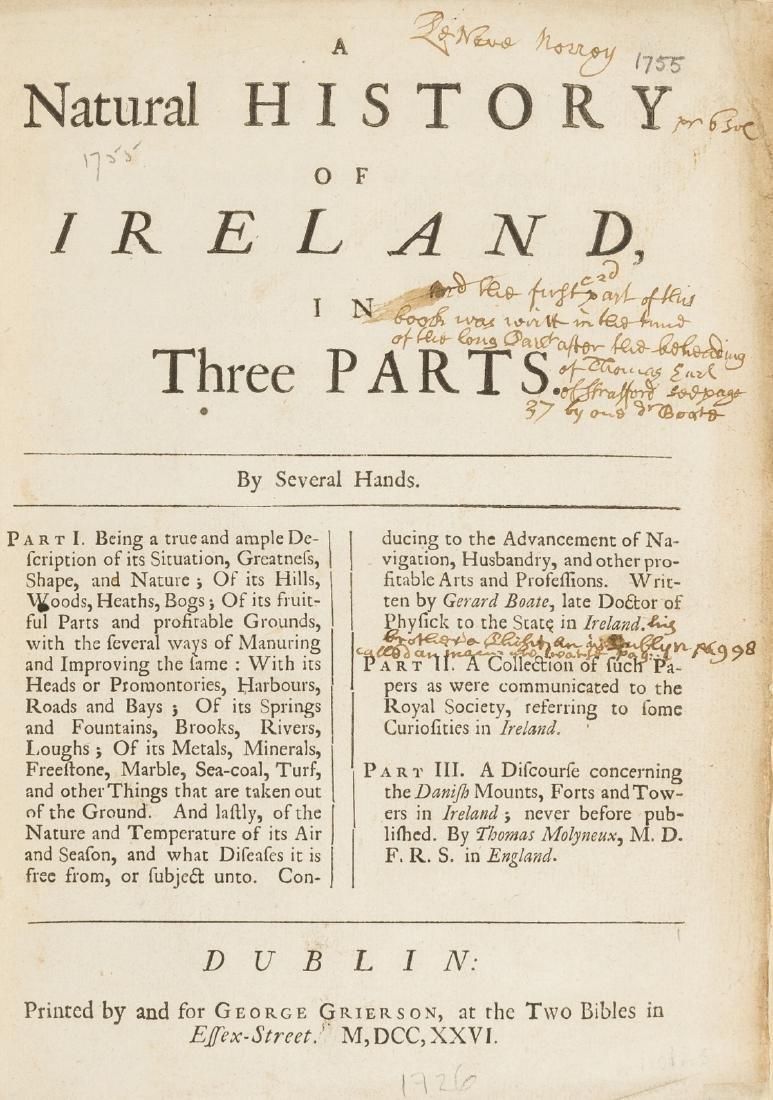 Ireland.- Boate (Gerard) Irelands Naturall History.