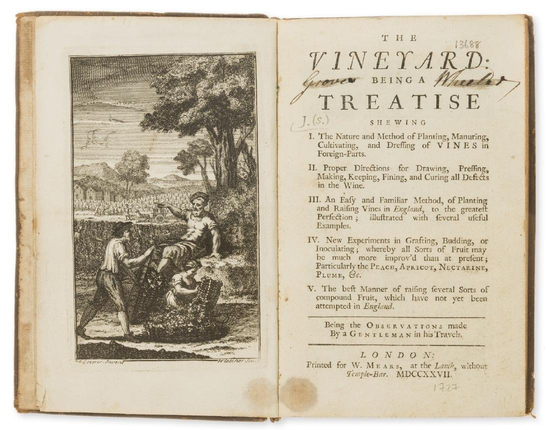 Wine.- [J. (S.)] The Vineyard, first edition, 1727.