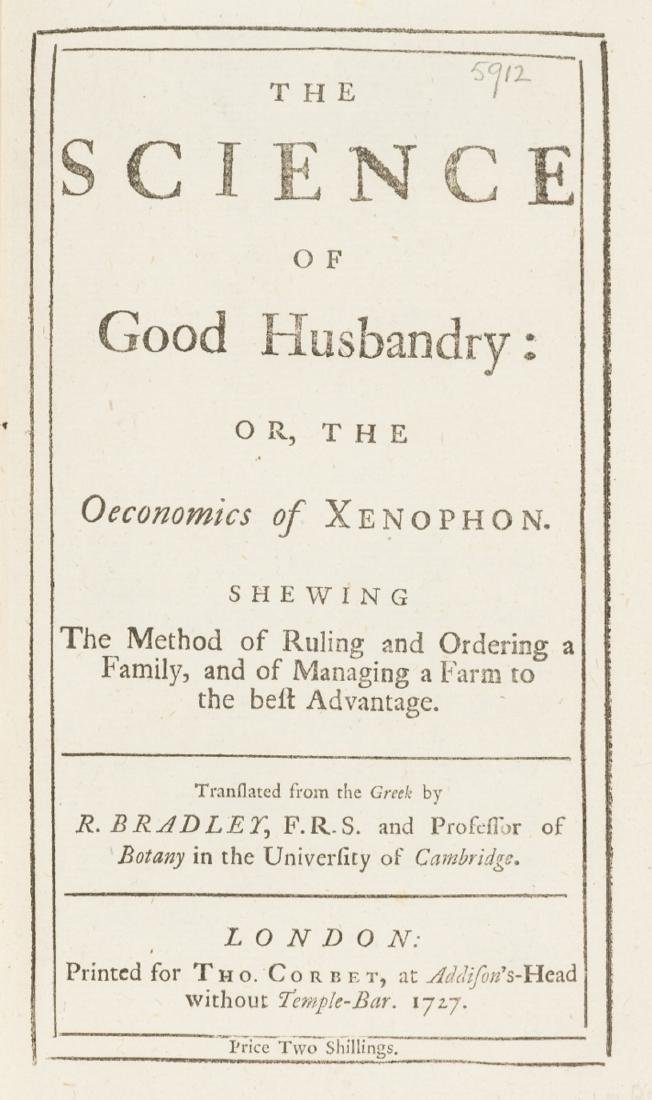 Xenophon. The Science of Good Husbandry, only edition,