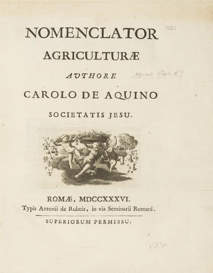 Dictionary.- Aquino (Carlo d') Nomenclator