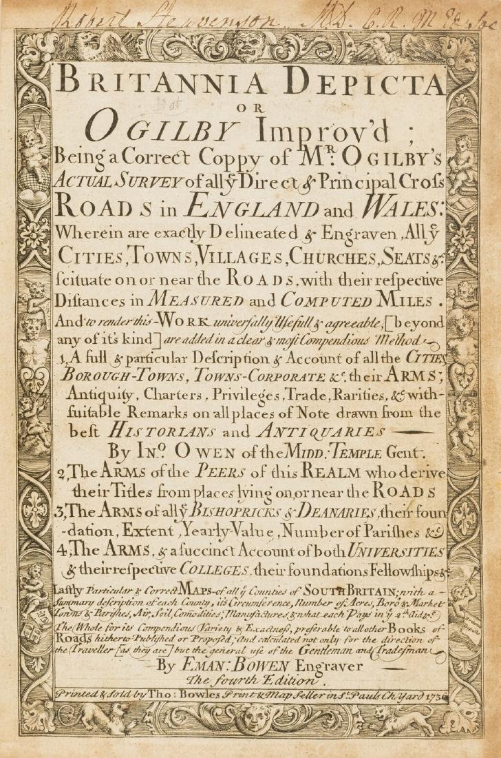 Britain.- Ogilby (John) and Emmanuel Bowen, Britannia