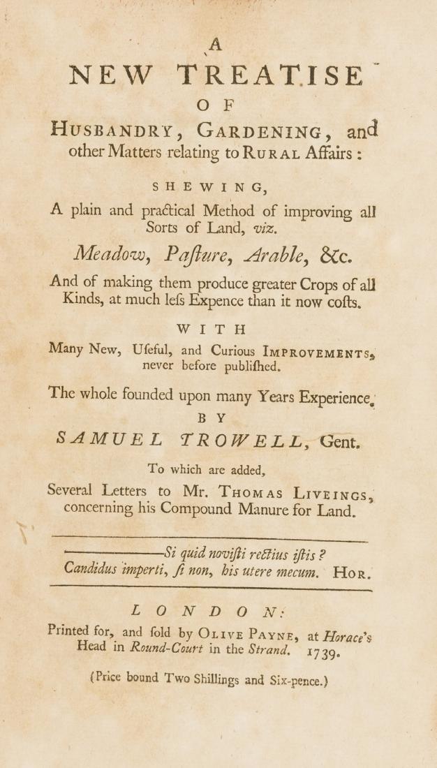 Trowell (Samuel) A New Treatise of Husbandry,