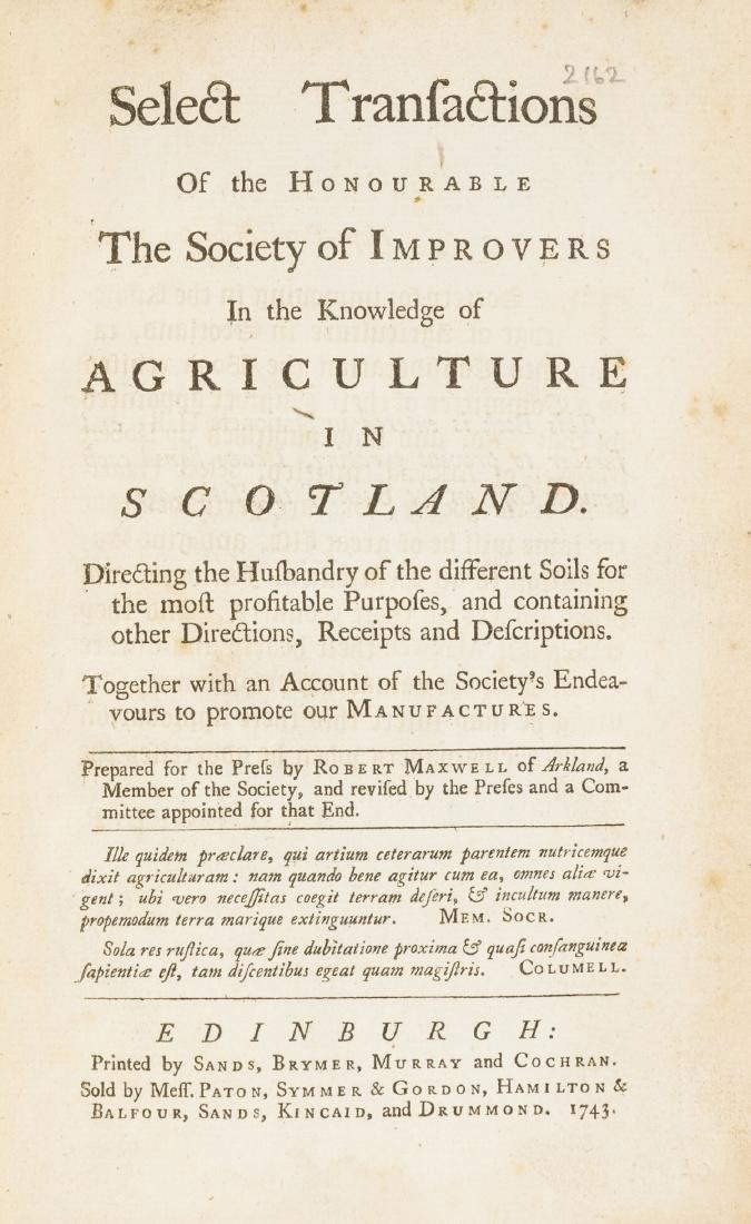 Scotland.- Maxwell (Robert) Select Transactions of the