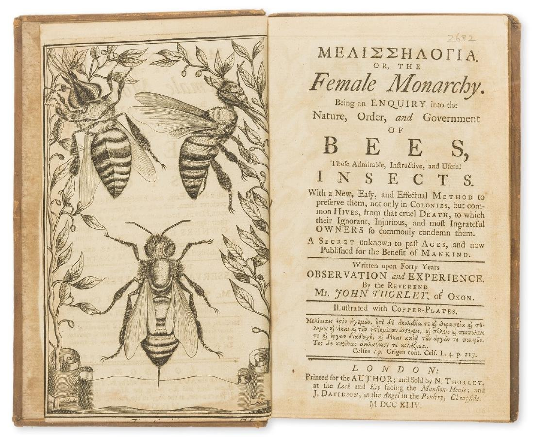 Bees.- Thorley (John) Melisselogia [graece]. Or, the