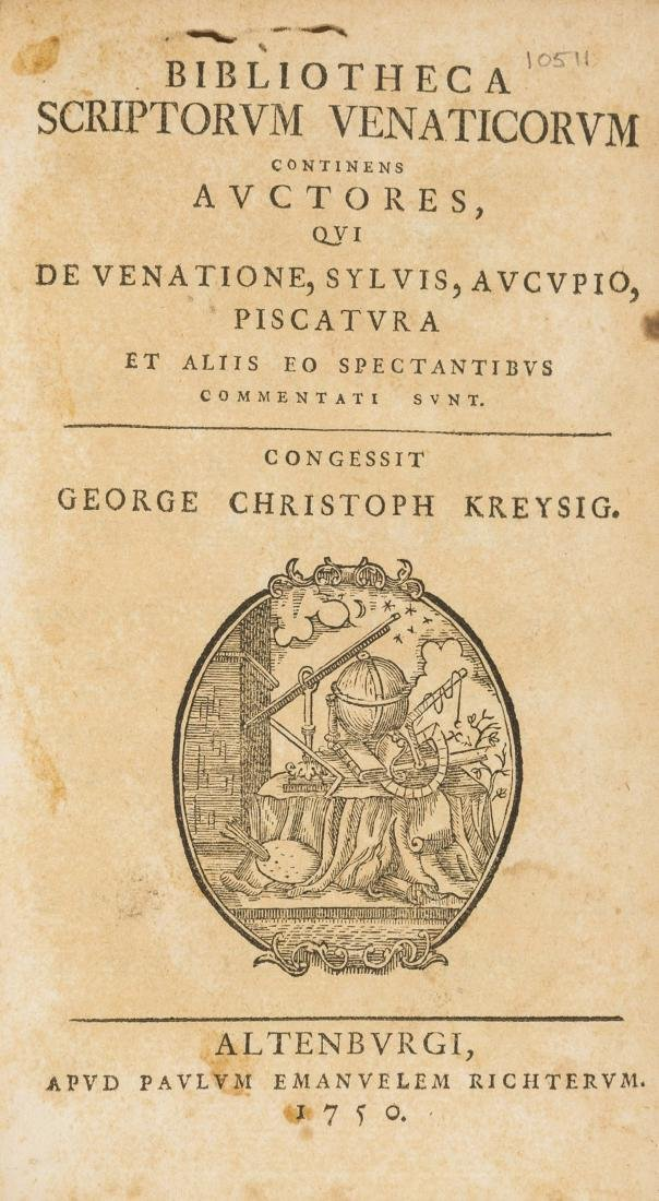Bibliography.- Kreysig (George Christoph) Bibliotheca