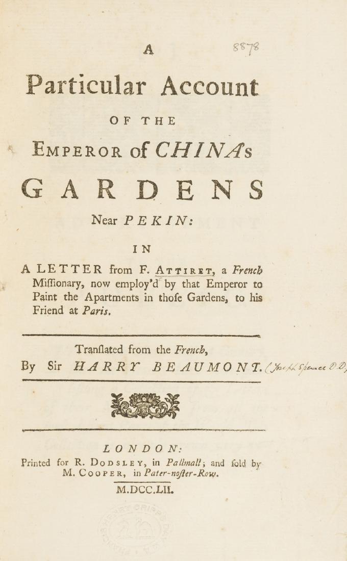 Chinese Gardens.- Attiret (Jean Denis) A Particular