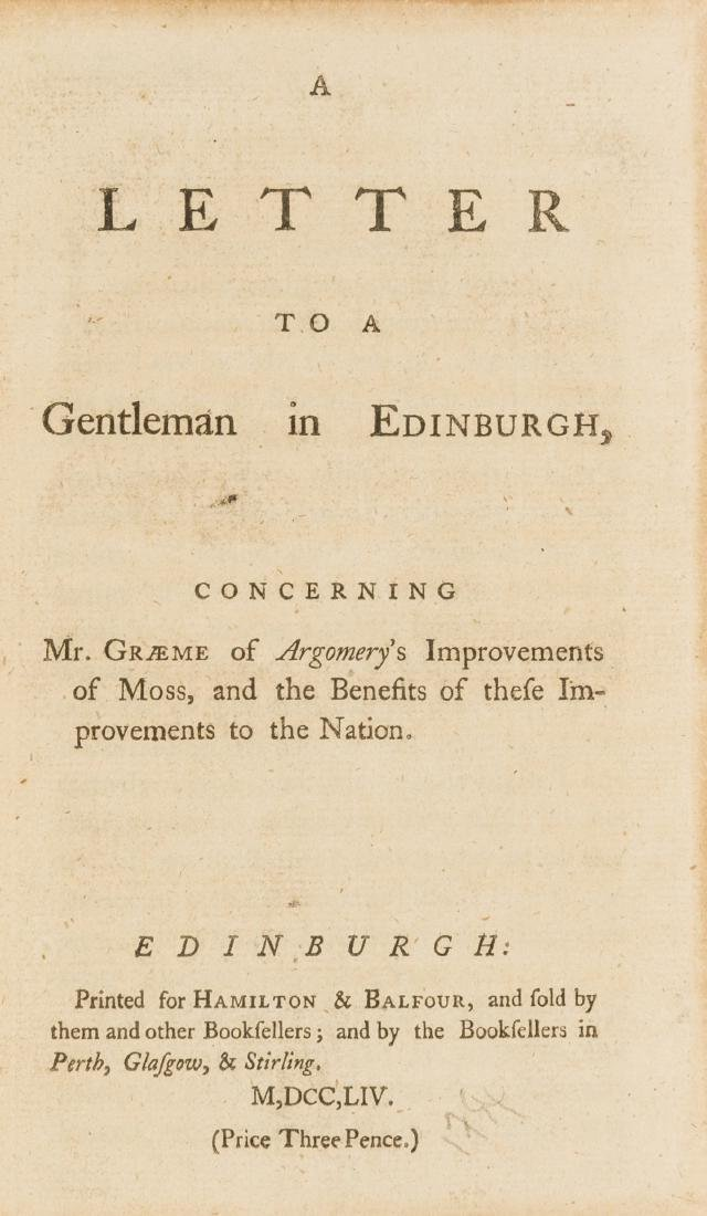 Scotland.-  Letter (A) to a Gentleman in Edinburgh,