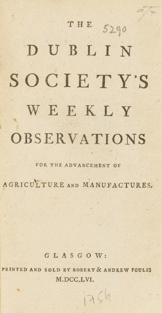 Foulis.- Dublin Society's Weekly Observations (The) for