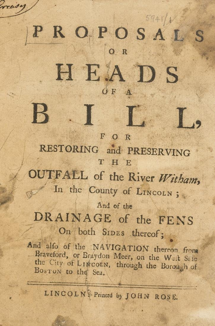 Fens Drainage.- Proposals or Heads of a Bill, for