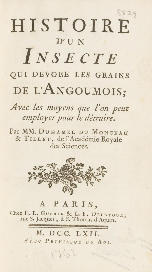 Duhamel du Monceau (Henri Louis) and Mathieu Tillet.