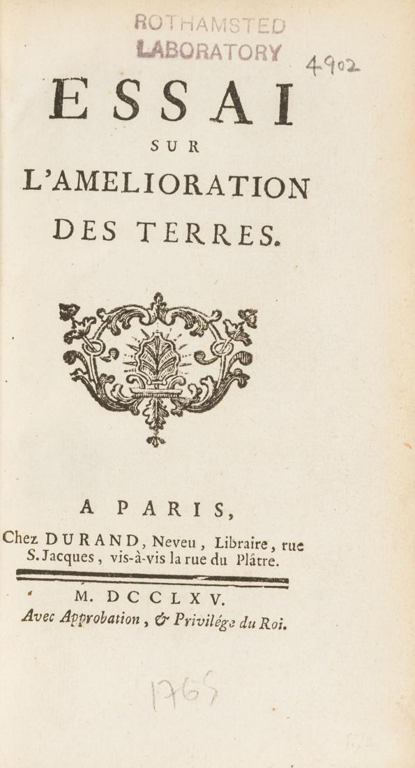 Pattulo (H.) Essai sur l'Amelioration des Terres,