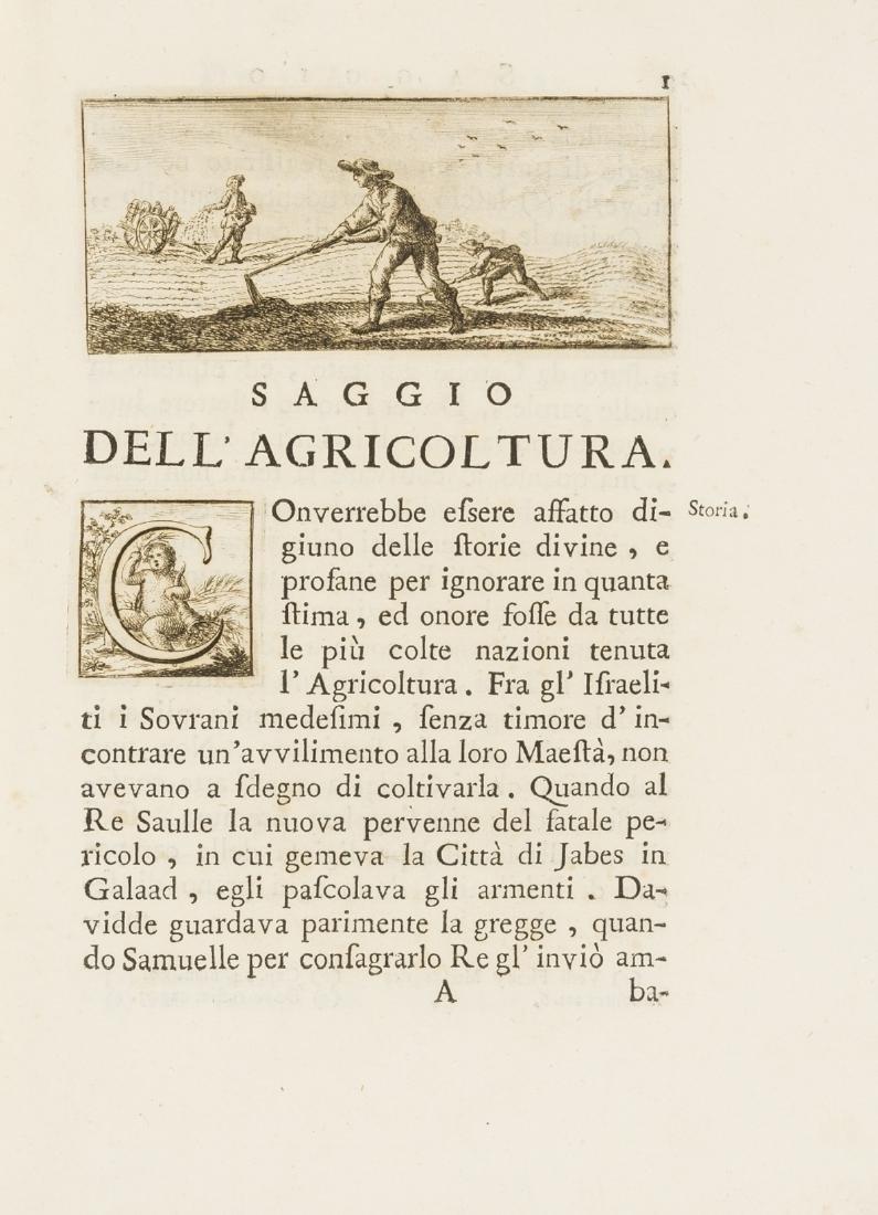 Todeschi (Claudio) Saggi di Agricoltura, Manifatture, e