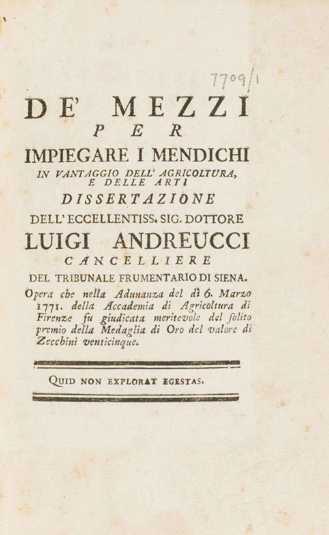Andreucci (Luigi) De' Mezzi per Impiegare i Mendichi in