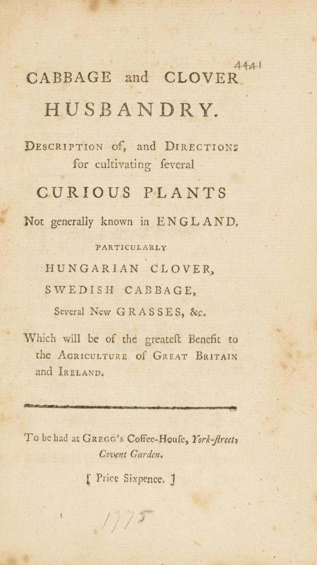 Cabbage and clover husbandry. Description of, and