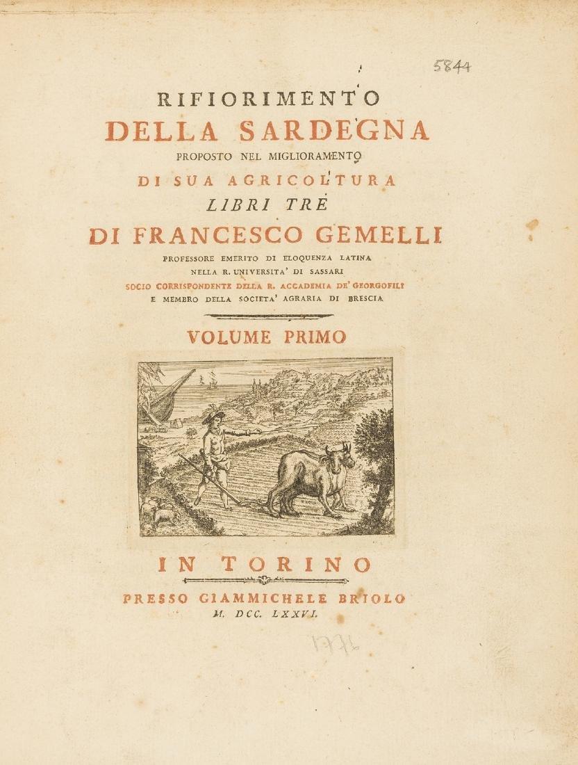 Sardinia.- Gemelli (Francesco) Rifiorimento della