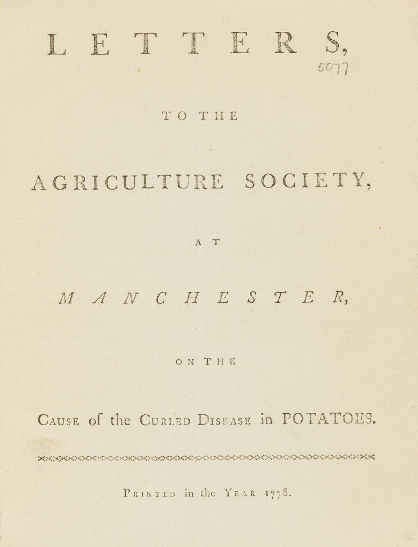 Potatoes.- Letters, to the Agriculture Society, at