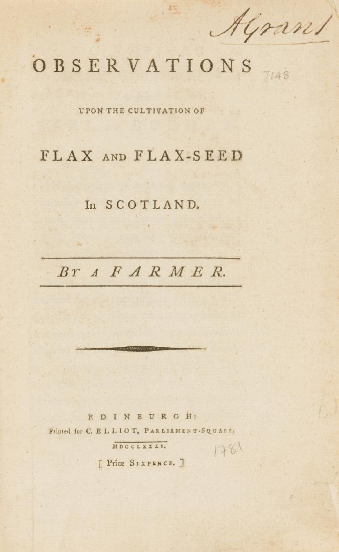 Scotland.- Observations upon the Cultivation of Flax
