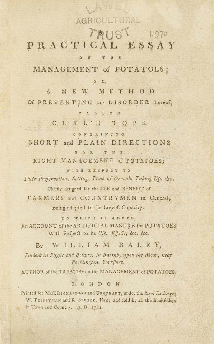 Potatoes.- Raley (William) A Practical Essay on the