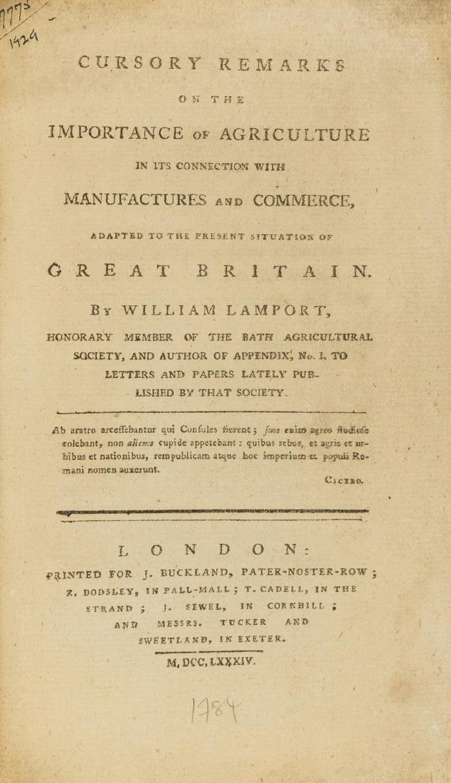 Lamport (William) Cursory Remarks on the Importance of