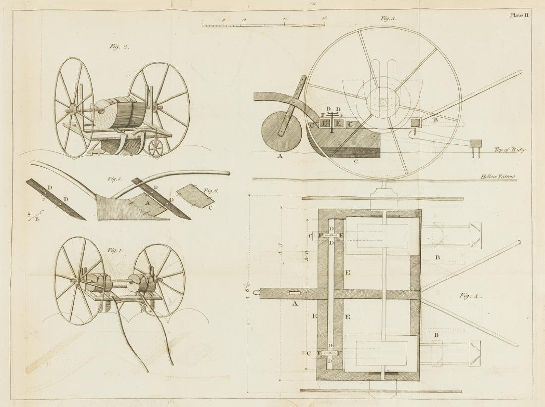 Seed drill.- A Plan and Description of a Drill Plough,