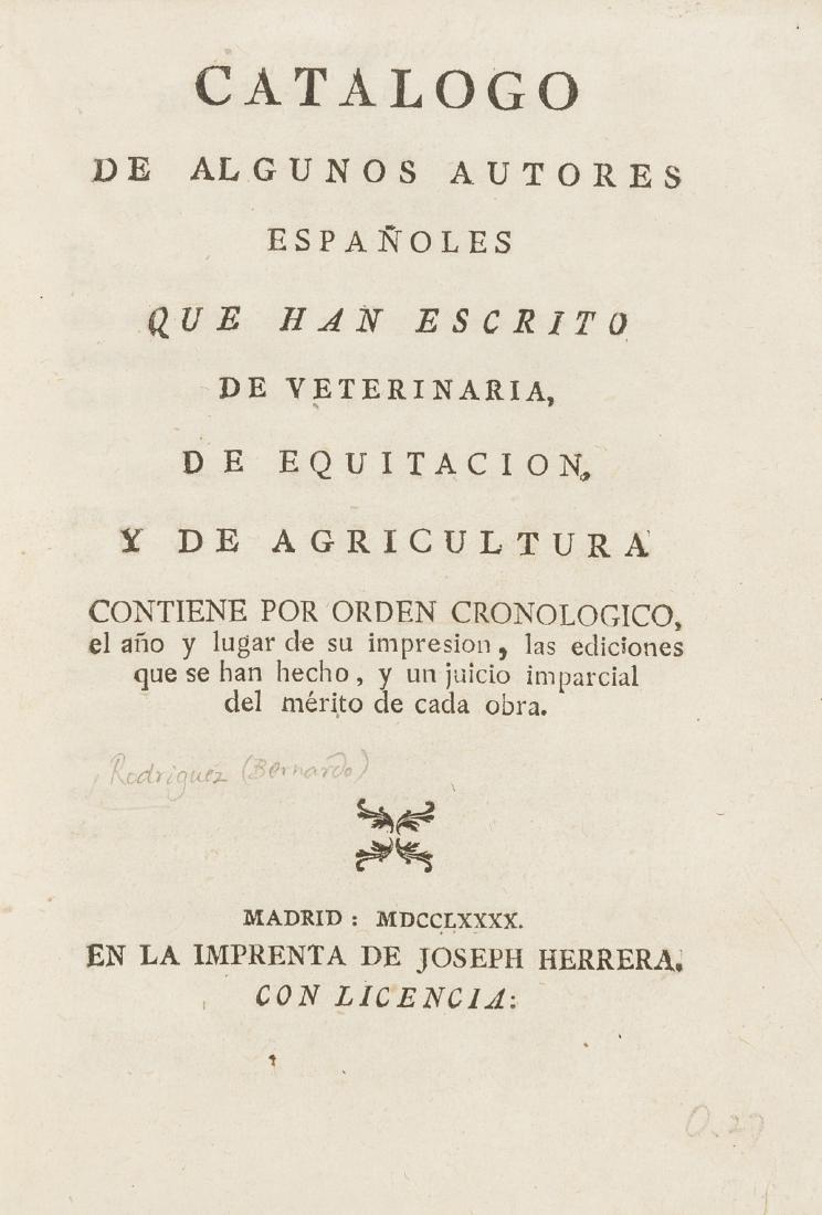 Rodriguez (Bernardo) Catalogo de Algunos Autores