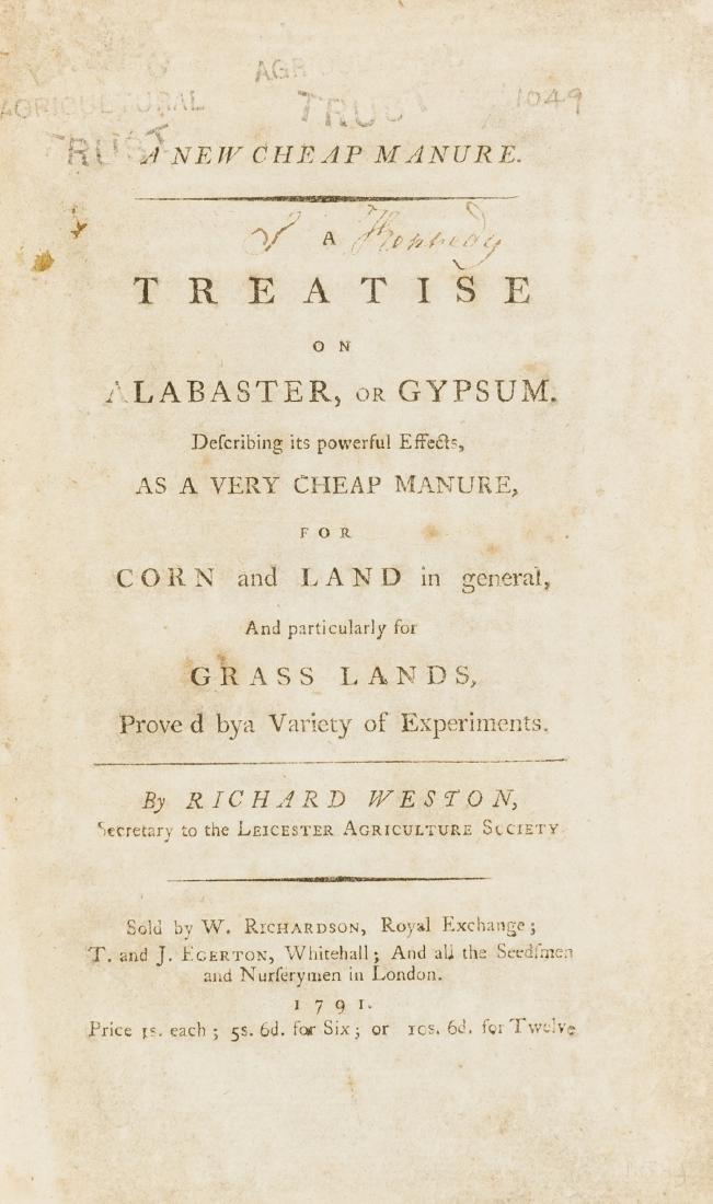 Weston (Richard)  A New Cheap Manure. A Treatise on
