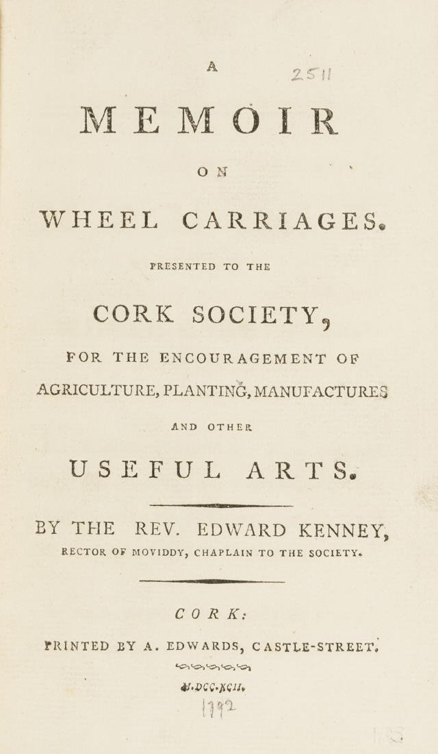 Carriages.- Kenney (Rev. Edward) A Memoir on Wheel
