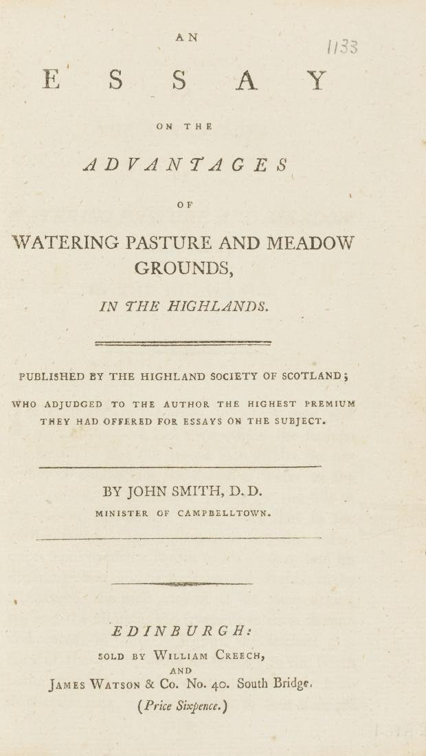 Water Meadows.- Smith  (John) An Essay on the