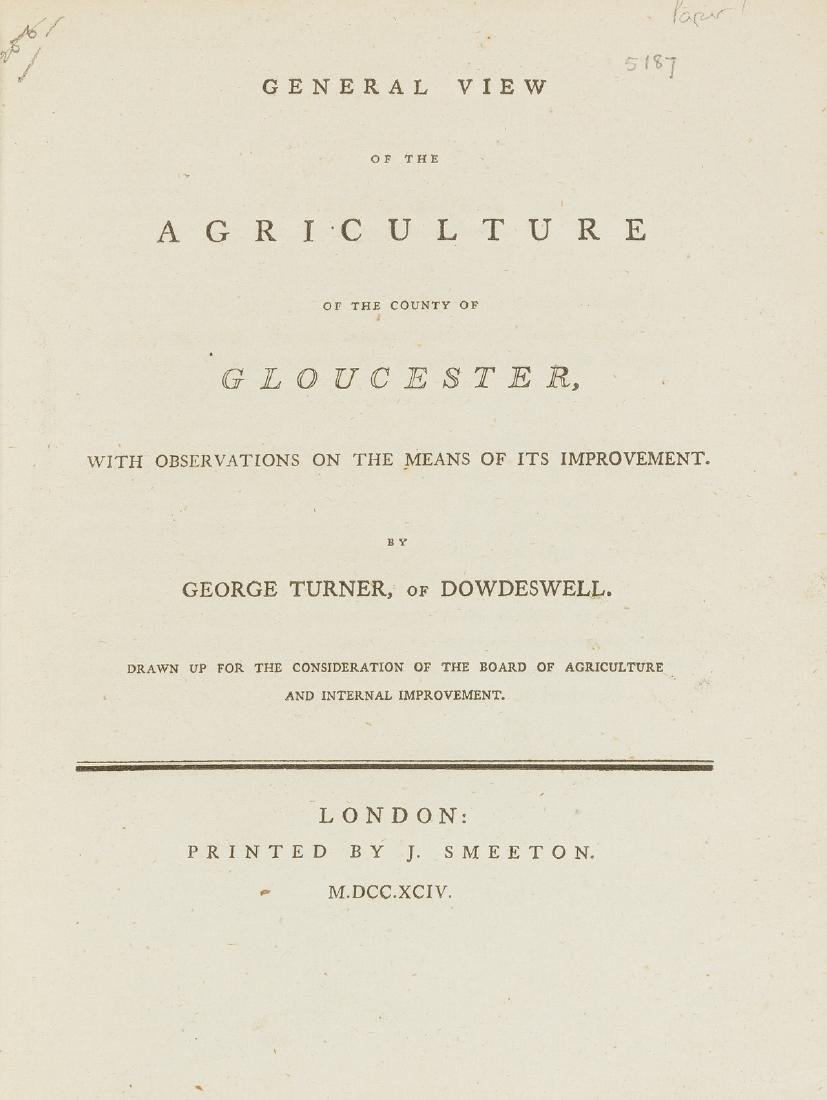 Britain.- , [Agricultural Surveys of the counties of