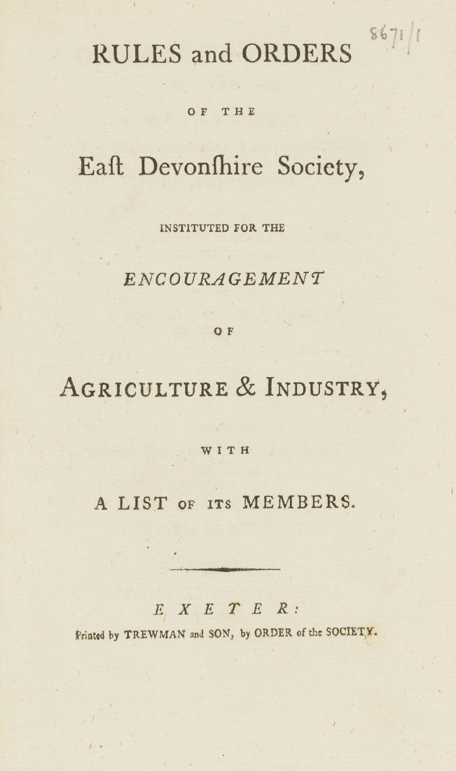 Agricultural societies.- Rules and Orders of the East