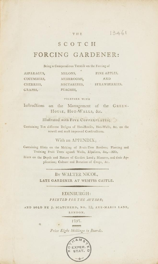 Gardens.- Nicol (Walter) The Scotch Forcing Gardener,