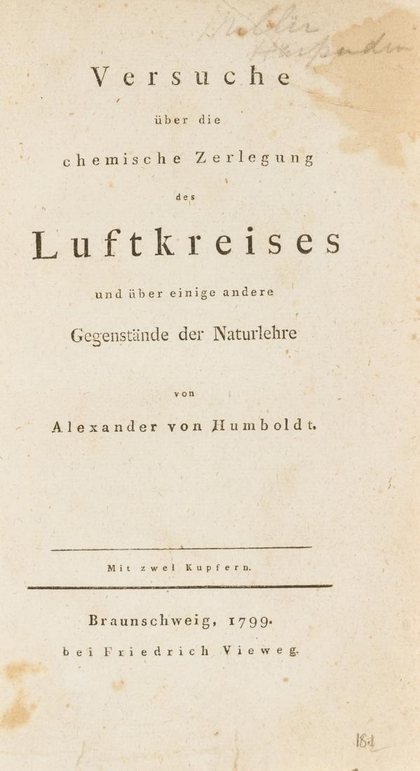 Humboldt (Alexander von) Versuche uber die chemische