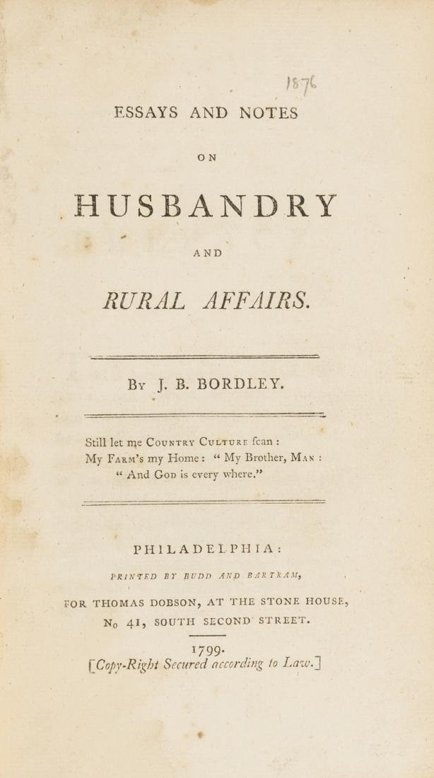 America.- Bordley (John Beale)  Essays and Notes on
