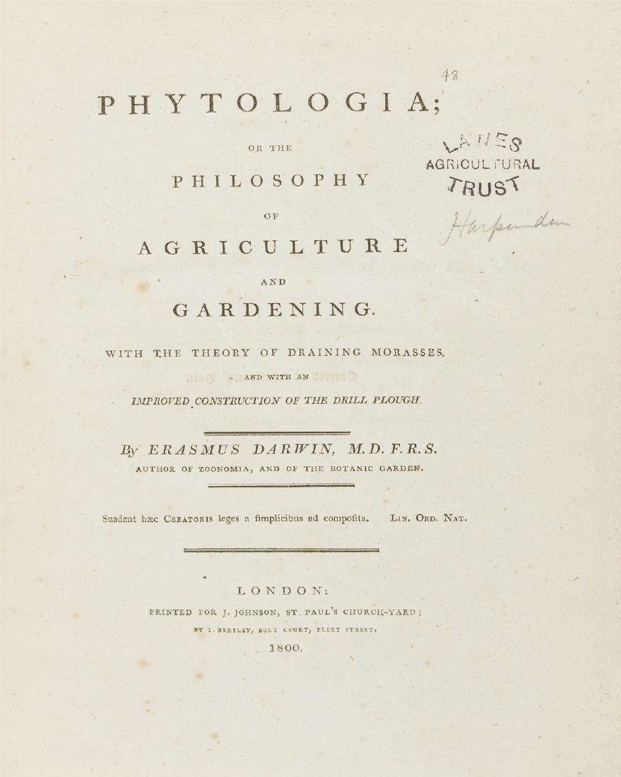 Darwin (Erasmus) Phytologia, or the Philosophy of