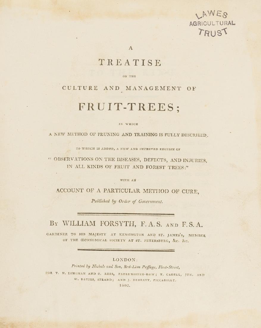 Fruit-trees.- Forsyth (William) A Treatise on the