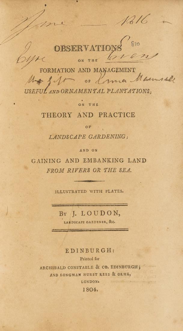 Gardens.- Loudon (John Claudius) Observations on the