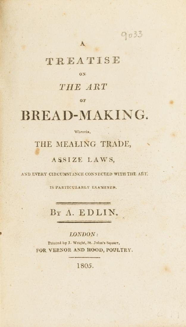 Bread.- Edlin (A.) A Treatise on the Art of